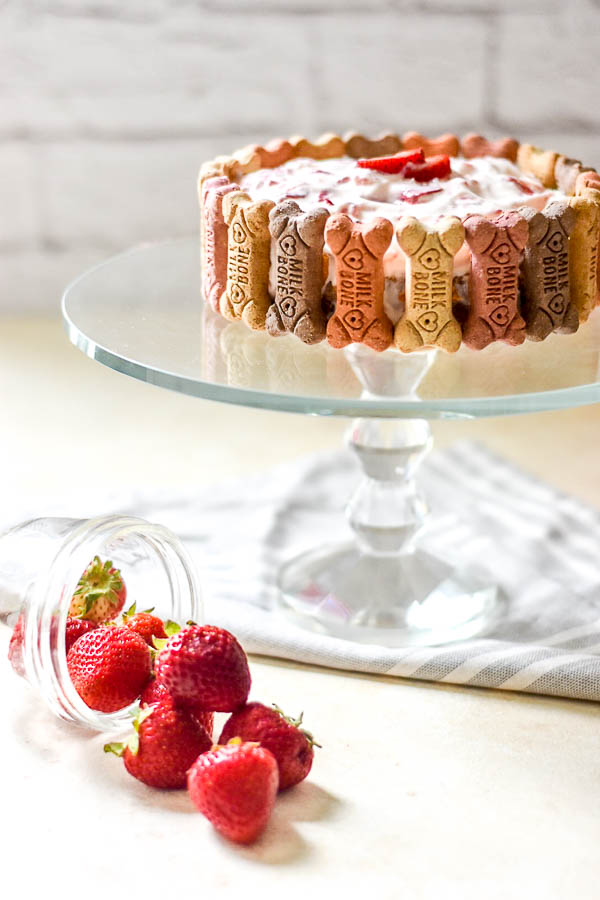Strawberries and Cream Pupcake