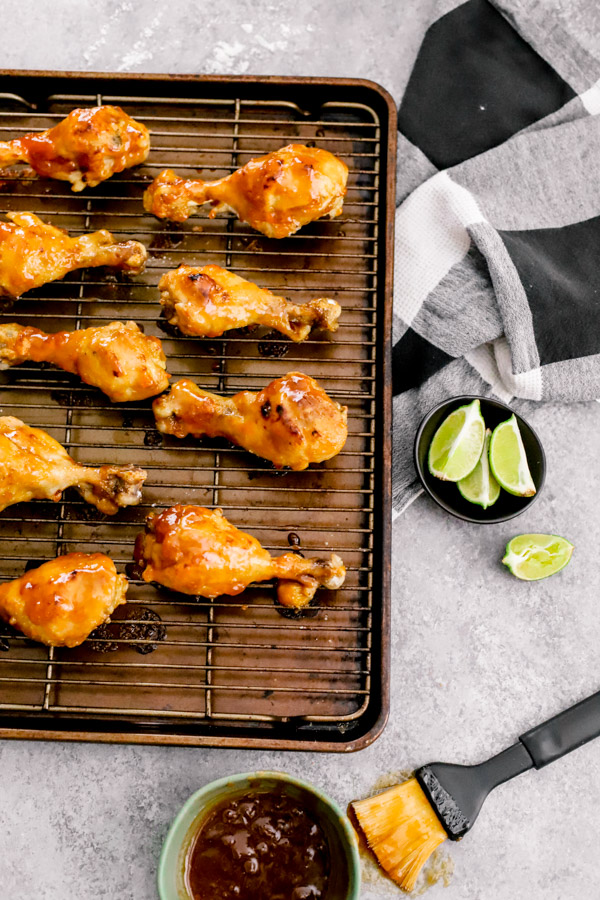Instant Pot Honey Apricot Glazed Drumsticks