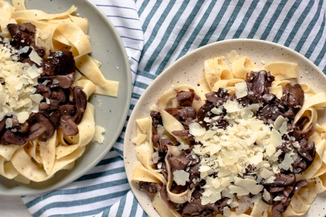 Three Mushroom Pappardelle for Two
