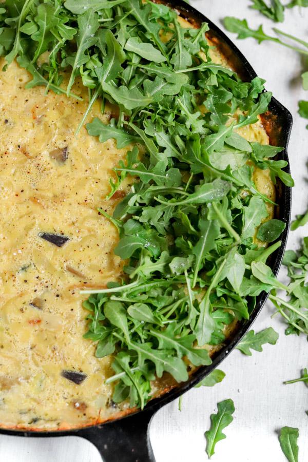 Caramelized Onion and Eggplant Frittata
