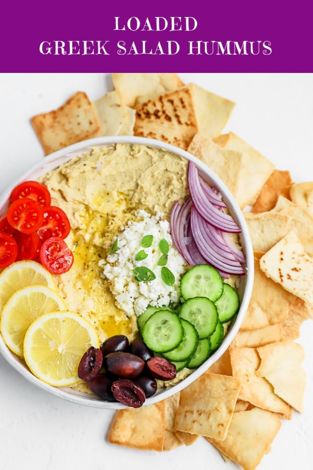 Loaded Greek Salad Hummus