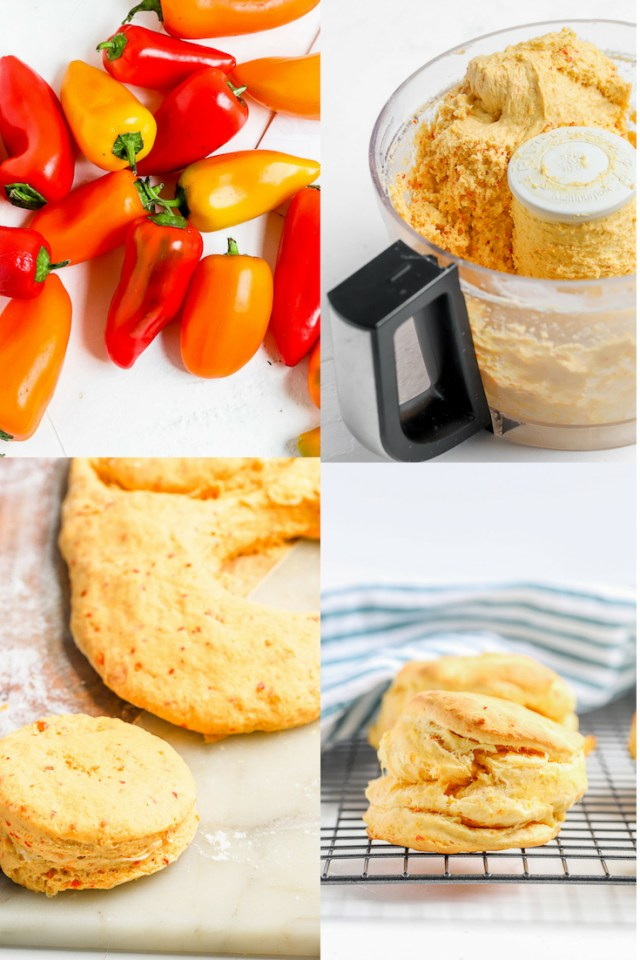 How to make sweet pepper biscuits