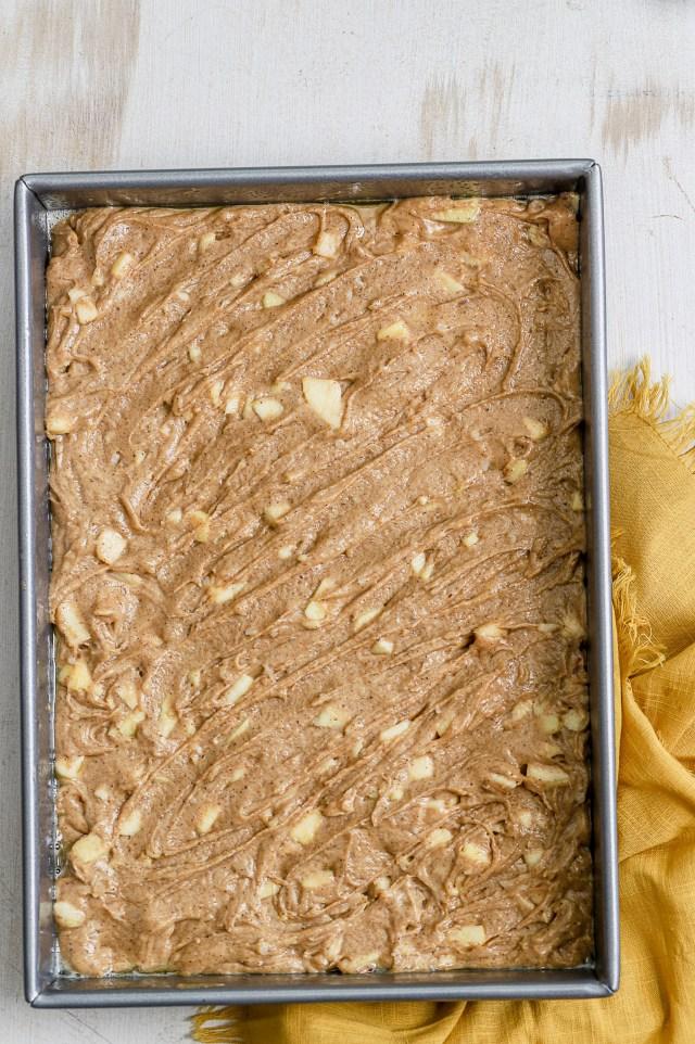 Spiced Apple Sheet Cake