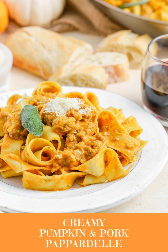 Creamy Pumpkin and Pork Pappardelle