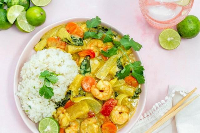 Thai Shrimp Yellow Curry