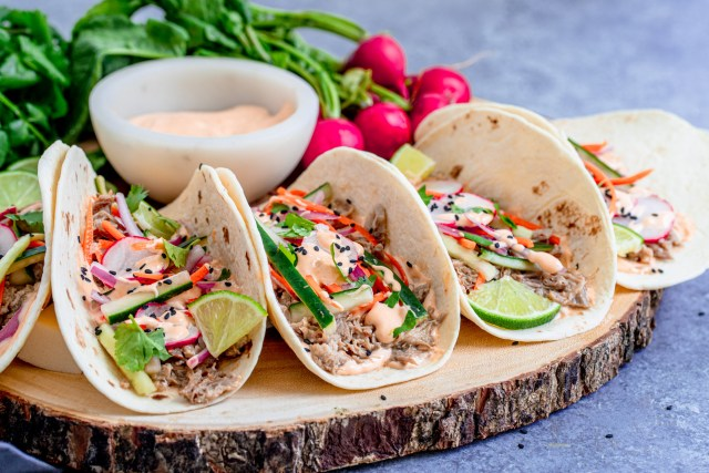 Instant Pot Pork Bahn Mi Tacos
