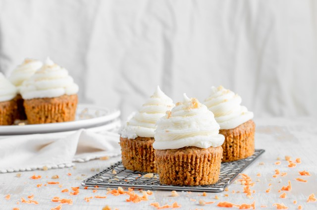 Small Batch Carrot Cake Cupcakes