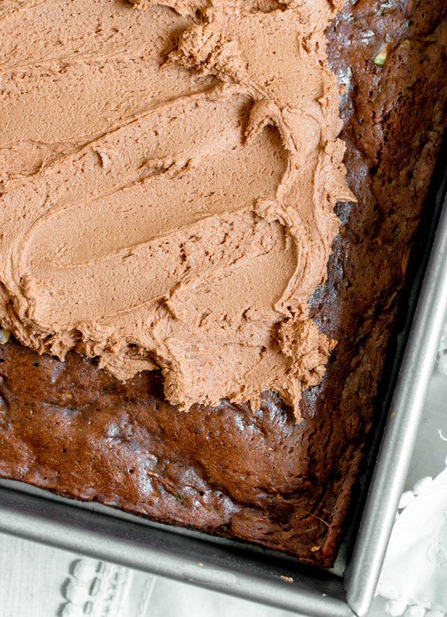 Double Chocolate Zucchini Snack Cake