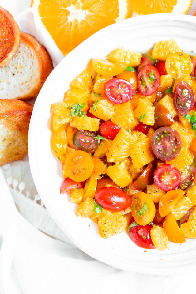 Navel Orange and Goat Cheese Bruschetta