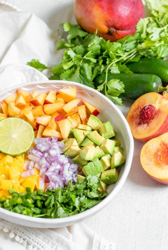 10 Minute Peach Mango Salsa