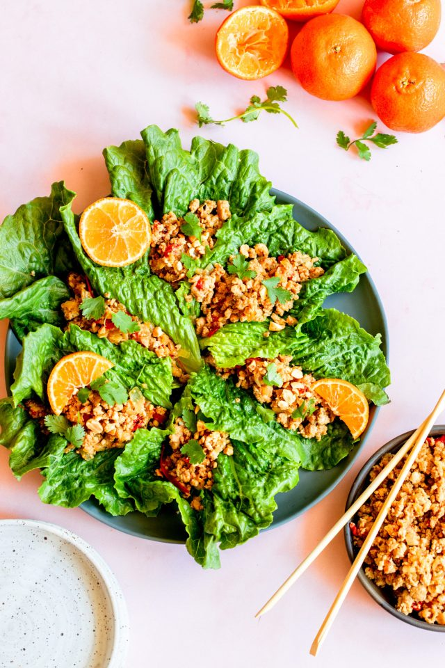 Clementine Chicken Lettuce Wraps