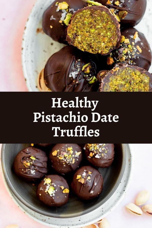 Healthy Pistachio Date Truffles