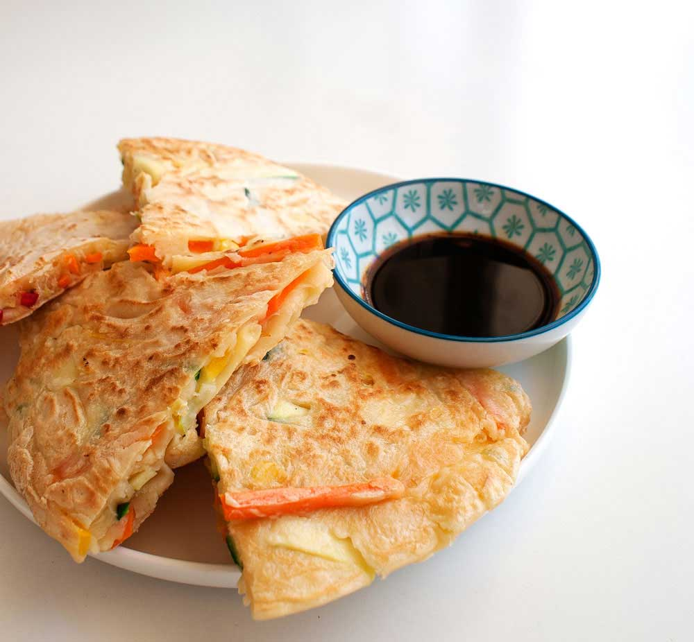 Veggie Packed Korean Style Pancakes | Sprinkles and Sprouts