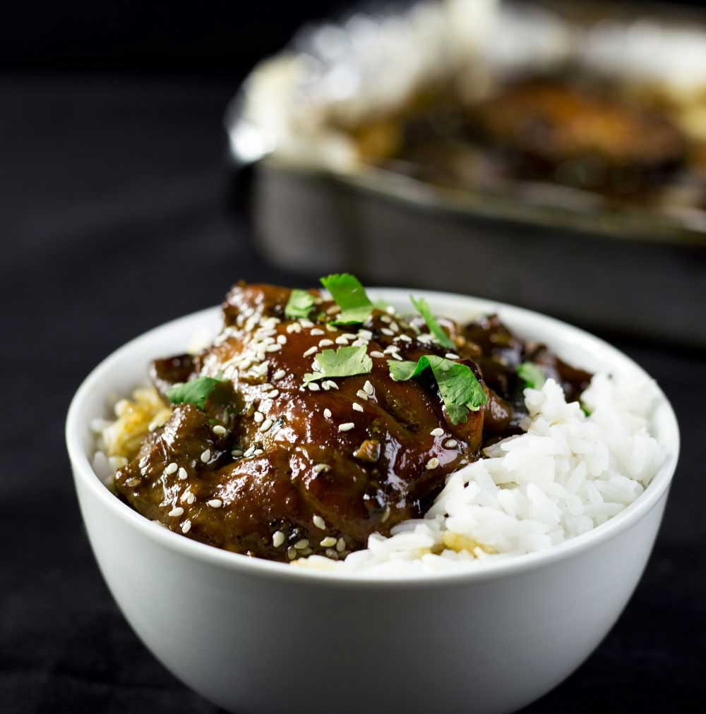 Oven Baked Honey Soy Sesame Chicken