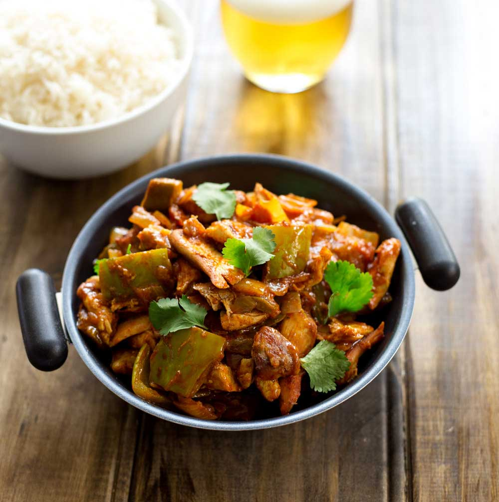 Chicken Jalfrezi A Fresh, Zesty Spicy Curry Packed With Fresh Tomatoes,  Green Peppers,
