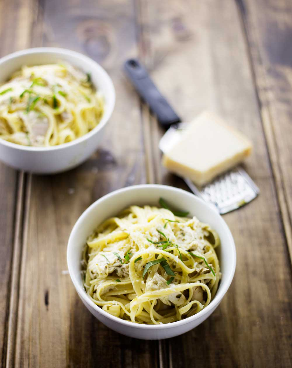 Lemon and Basil Chicken Pasta. Fresh and light, and the 'sauce' is almost instant. Simple and delicious, this dish has an beautiful elegance to it.