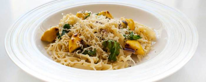 Pasta with Rocket and Roasted Squash