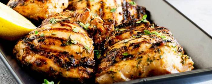 Apple Cider Thyme Grilled Chicken