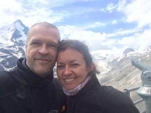 Grinning at the Grossglockner Glacier