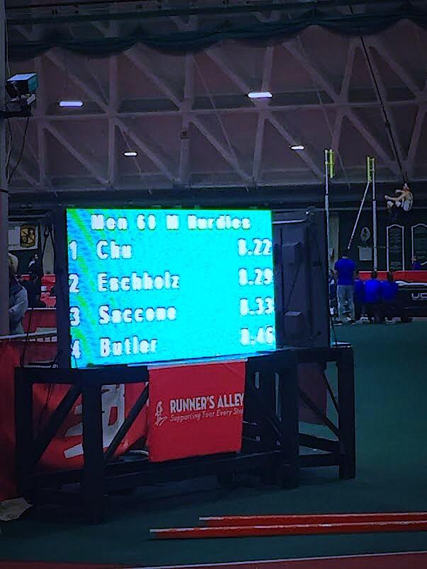60m Hurdle Final Times