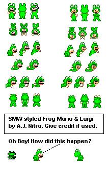 Custom  Edited  Mario Customs  Frog Mario Super Mario