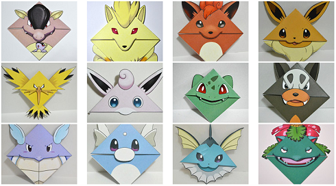 Image result for Pokemon bookmarks