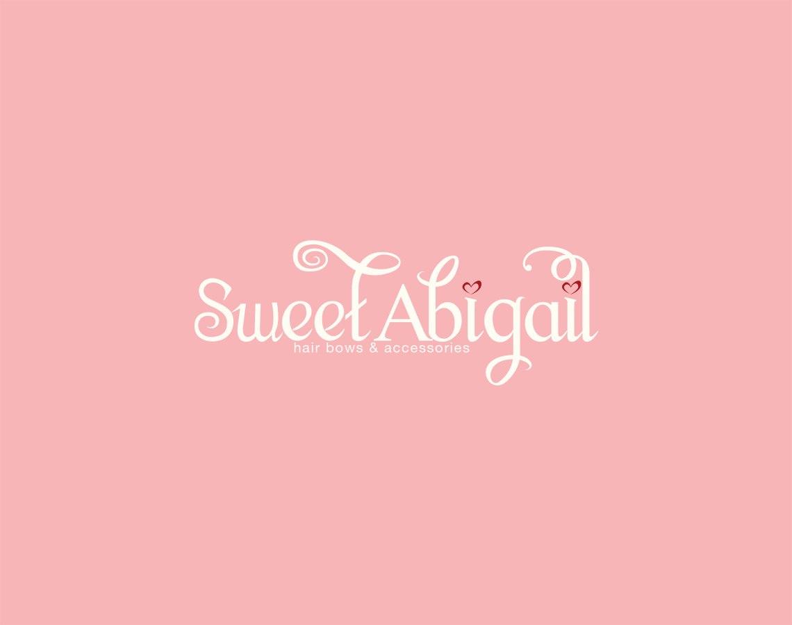 Pink Sweet Abigail Logo Design