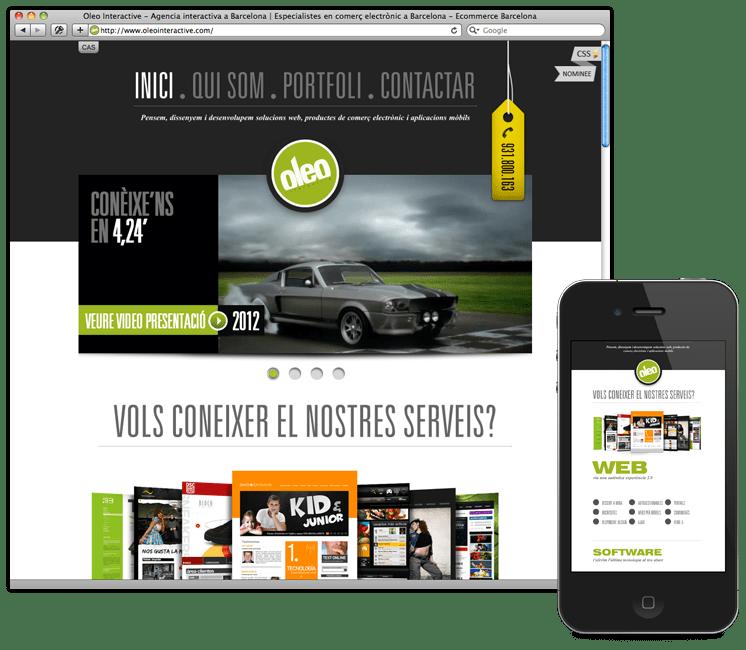 oleo responsive website