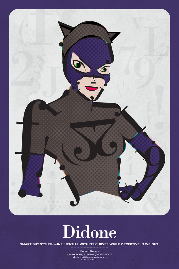Cat Woman Font, Typography, Didone Font