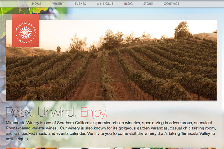 miramonte winery website designer