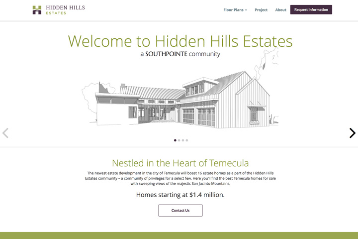 Hidden Hills Temecula Website Development