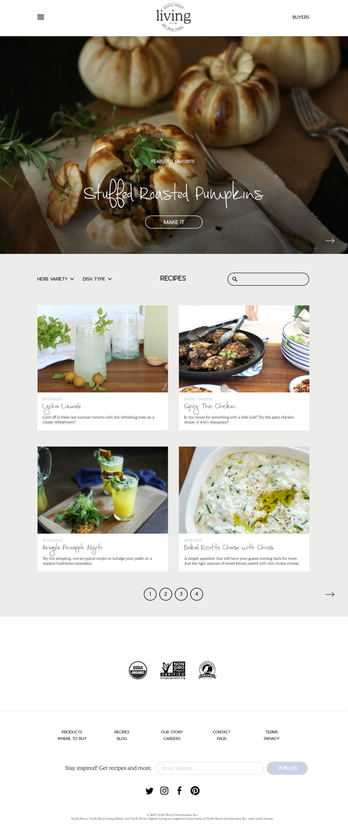 recipe blog design