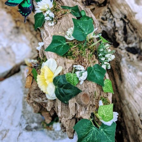 Top of Green Woodland Fairy House