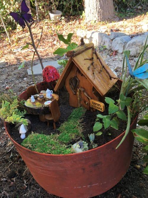 Create a Fairy garden in a pot