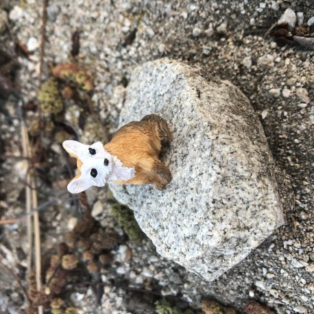 Seated Fairy Garden Fox by Sprouted Dreams (1)