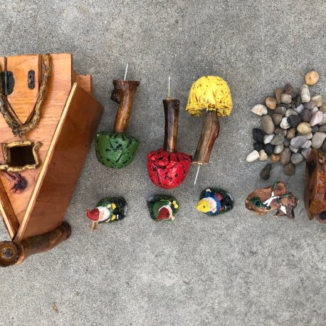 Complete Outdoor Gnome Garden handmade by Sprouted Dreams (4)