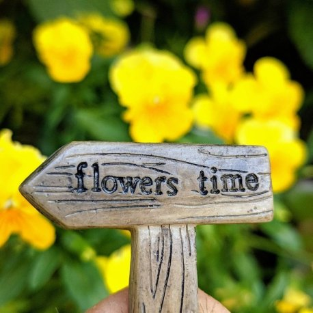 flowers time Fairy Garden Sign from Sprouted Dreams9