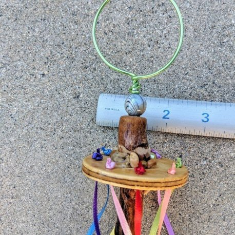 Fairy Wand-Maypole-Bubble blower handcrafted by Sprouted Dreams17