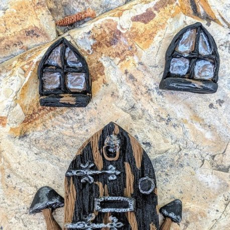 Gothic Door Set handmade by Sprouted Dreams13