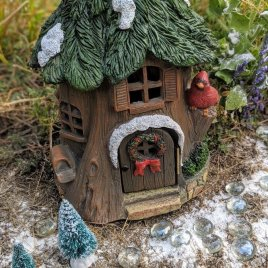 Large Christmas Fairy Garden Kit