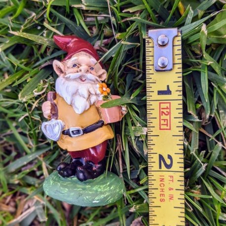 Yellow Gnome with Trowel