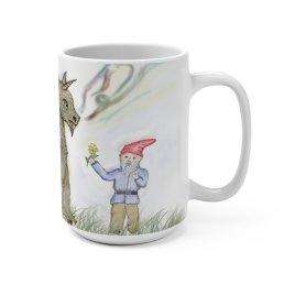 Kind Gnome and Dragon
