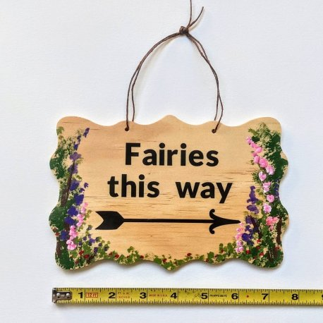 Fairy Garden Sign Handpainted by Sprouted Dreams