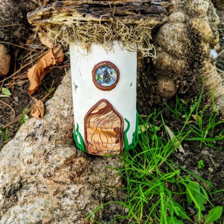 Mossy Top Light Up Fairy House3