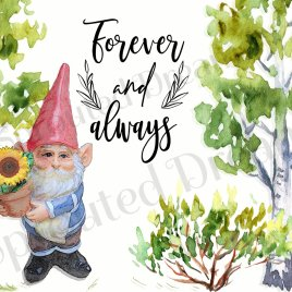 Gnome Forever and Always Card