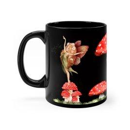 Dancing Toadstool Fairy Coffee Mug