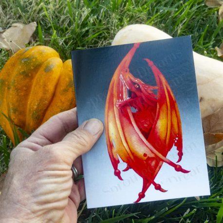 Fire Dragon Card held
