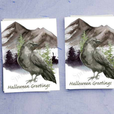 Raven Halloween double