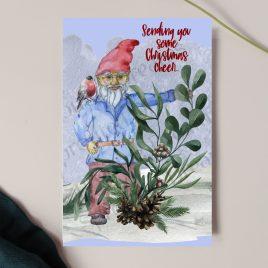 Sending Christmas Cheer Gnome Card