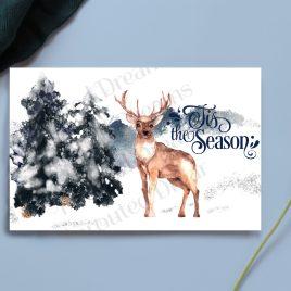 Tis the Season Woodland Deer Card
